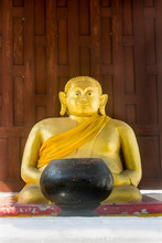 Buddha Statue Used As Amulets Of Buddhism Religion, In Thailand Public Domain Or Treasure Of Buddhism. No Copyright, No Name Of Artist Appear.