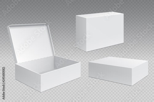Realistic packaging boxes Fototapete