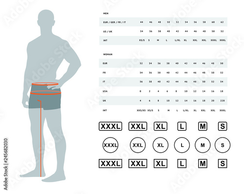 Photo  Measurements for clothing