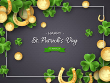 St. Patricks Day Card. Clover ...