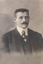 RUSSIA - CIRCA 1905-1910: A Portrait Of Young Man, Vintage Carte De Viste Edwardian Era Photo