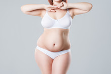 Woman With Fat Abdomen, Overwe...