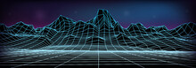 Abstract Wireframe Landscape B...
