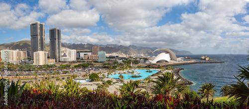 panoramic view Santa Cruz de Tenerife