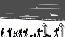 Migrants Breach The Border Fence