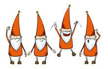 Dwarfs In Red