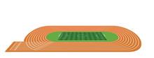 Running Tracks And Soccer Field. Vector Illustration