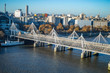 The famous bridges of jubilee and hungerford on the top view