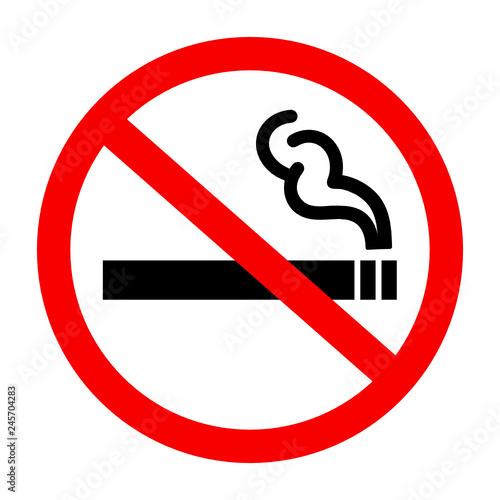 znak zakaz palenia - fototapety na wymiar