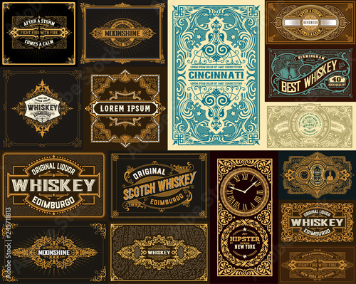 Photo Pack of 16 vintage designs for packing