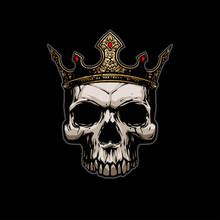 Skull With Gold Crown