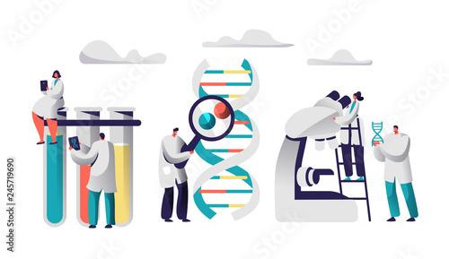 Fotografía  Scientist Team Research Medicine in Chemical Laboratory Image