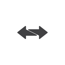 2 Side Arrows Vector Icon. Fil...