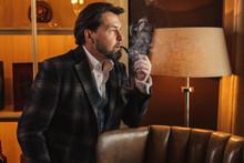 Anxious Husband In A Tweed Jac...