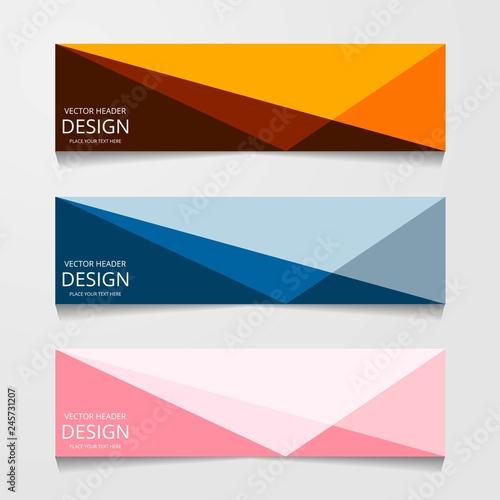Fototapeta Vector design Banner background modern.Web template obraz