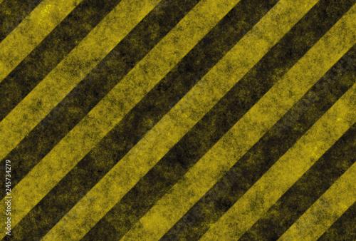 Stampa su Tela  grunge warning sign stripes