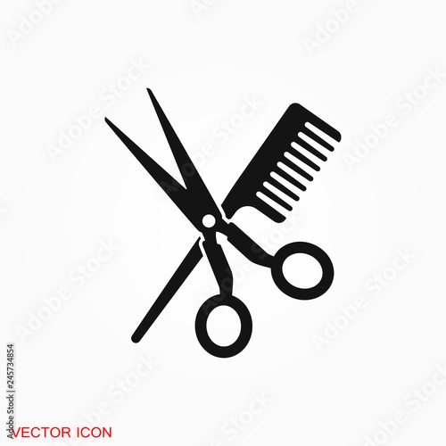 Photographie Barber icon vector logo, illustration, vector sign symbol for design