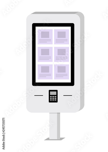Payment and information electronic terminal with touch screen Fototapeta