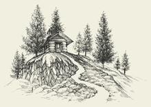 Relaxing Place Hand Drawing, A...