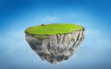 3D Fantasy Floating Island Wit...