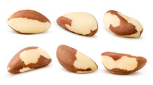Brazil Nut, Isolated On White Background, Clipping Path, Full Depth Of Field