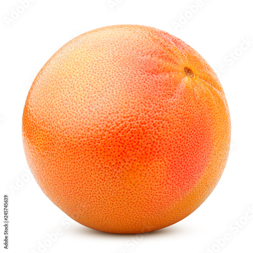 Fotografia  grapefruit isolated on white background, clipping path, full depth of field