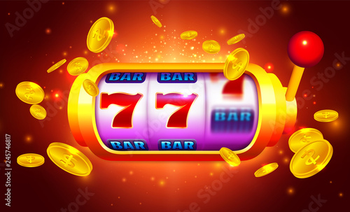 Papel de parede Royal Gold Slot Machine with Icons and Coins