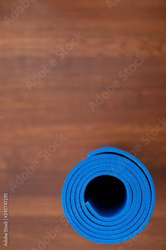 Fotografie, Obraz  Rolled up Yoga mat
