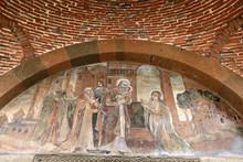 Frescos Above Door Saint Gayane Church