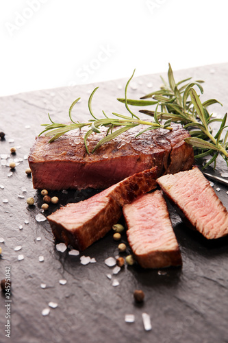 Barbecue filet Steak. Black Angus Prime meat steaks