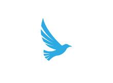 Bird Eagle Open Wings Flying Logo