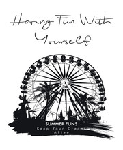 Fun Fair And Palm Trees Print For T-shirt Graphic And Other Uses.