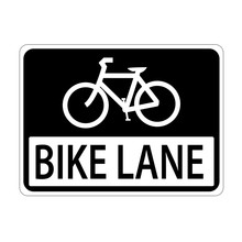 USA Traffic Road Sign.Line Is Reserve For Bicycle Only. Vector Illustration