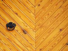 Old Wooden Door And Metal Door...