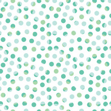 Abstract Seamless Pattern With Randomly Dots. Abstract Background With Little Circles. Vector Illustration.