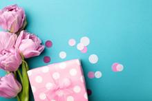 Gift Box Wrapped In Polka Dot ...