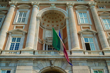 Flag Of Italy On Royal Palace Of Caserta