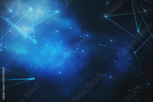 Fototapeta Digital blue backdrop obraz na płótnie