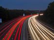 europe, UK, England, Surrey, M3 motorway light trails