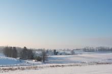 Winter Farmland Scene