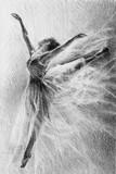 baletnica w skoku. naszkicować. grafika. rysunek ołówkiem - 245791293