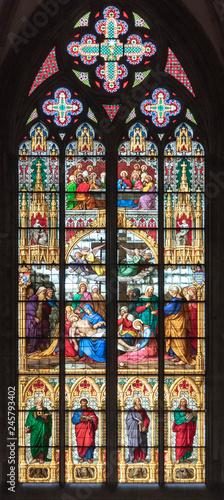 In de dag Stained Gotische Kirchenfenster