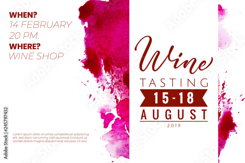 Wine Tasting Invitations Template Lettering Wine For Logo Or Your