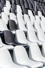 Empty Black And White Stadium ...