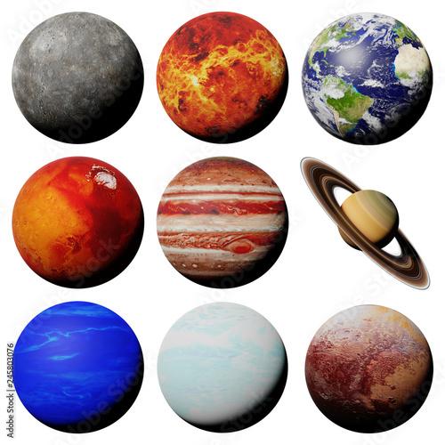 planety-ukladu-slonecznego-na-bialym-tle