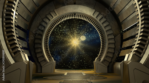 Photo  Space environment, ready for comp of your characters.3D rendering