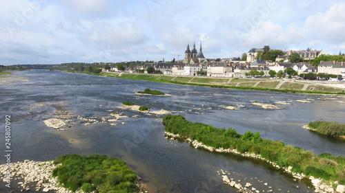 Photo  Panorama sur la ville de Blois, au bord de la Loire (France)