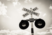 Isolated Railroad Crossing Sig...