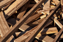 Untreated Wood Boards Waste Le...