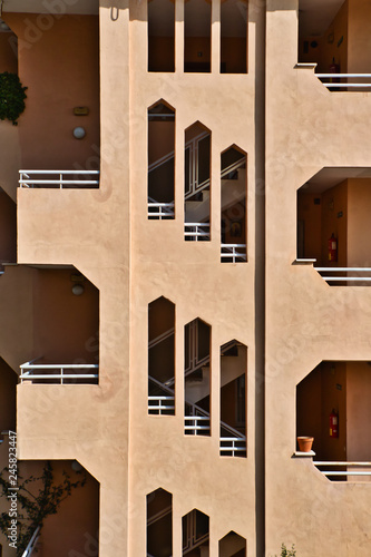 Photo Architecture. Geometric details of a building